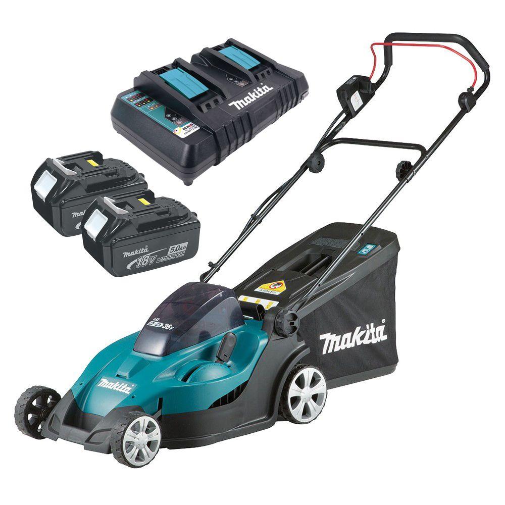 Makita Batterie-Tondeuse dlm380z 2x18v 38 cm sans batterie sans chargeur dans le carton
