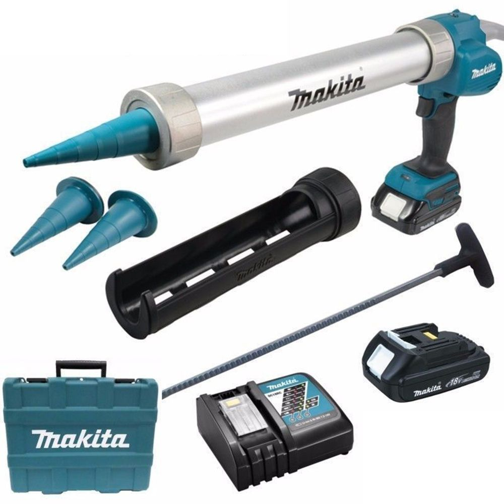 Makita DCG180RYEX Pistolet /à colle avec porte-cartouche 600 ml et batterie 18 V//1,5 Ah