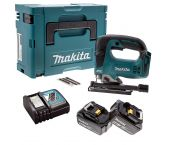 Makita DJV182RTJ Scie sauteuse à batteries 18V Li-Ion set (2x batterie 5,0Ah) dans MAKPAC - poignée en D - variable - moteur sans charbon