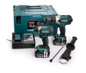 Makita DLX2145TJ Perceuse visseuse à percussion (DHP458) & Visseuse à chocs (DTD152) à batteries 18V Li-Ion combiset (2x batterie 5,0Ah) dans MAKPAC