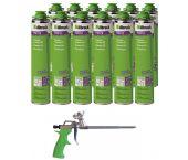 Illbruck Set de promotion FM310 Mousse de montage (12x) avec pistolet AA232 gratuit (Envoi le 09-09!)