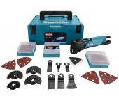 Makita TM3010CX2J Outil multi-fonction dans MAKPAC + Jeu d'accessoires 42 pièces - 320W