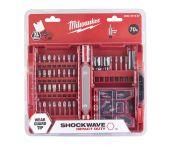 Milwaukee 4932471587 - Coffret d'embouts SHOCKWAVE™ IMPACT DUTY (70 pièces) - PH/PZ/TX/Hex