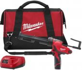 Milwaukee M12 PCG/310C-201B - Set de Pistolet à colle avec support de cartouche - Batterie 12V - Chargeur et Sac - 4933441655