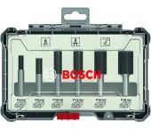 Bosch 2607017466 Kits de fraises droites, 6 pièces - Queue droite - 8mm