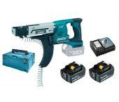 Makita DFR550RTJ Visseuse automatique à batteries 18V Li-Ion set (2x batterie 5.0Ah) dans MAKPAC - 25-55mm