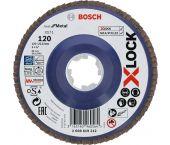 Bosch 2608619212 - X-LOCK disque à lamelles Best for Metal recht, plastique, Ø125mm, G 120, X571
