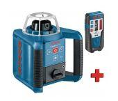 Bosch - Laser rotatif GRL 400 H + Cellule de réception LR 1 - 400m - 0601061800
