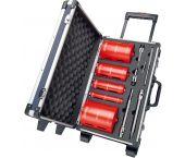 Carat HTESET0000 CDCE - Set de couronnes carat pour matériaux abrasifs - 32 / 52 / 82 / 112 / 132 mm + rallonges dans coffret