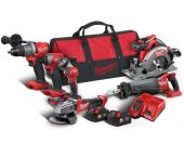 Milwaukee M18 FPP6C2-502B - Set d'outillage Li-Ion 18V (6pcs) (2x batteries 5,0Ah) dans sac - moteur brushless - 4933464592