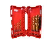 Milwaukee 48894759 Shockwave HEX - Forets à métal (10pcs) dans coffret