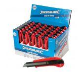 Silverline 675097 - Cutter à lame sécable dans boîte présentoir - 18mm (36 pièces)