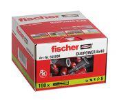 fischer 555008 - Cheville bi-matière DuoPower 8 x 40 sans vis (100pcs) DuoPower 8 x 40