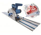 Scheppach PL55 Scie plongeante avec rail de guidage 1400mm - 1200W - 160mm - 5901802915
