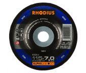 Rhodius 200013 Alphaline I KSM Disque à meuler - 115 x 22,23 x 7mm - Acier - 200013
