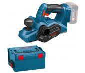 Bosch GHO 18 V-LI SOLO Rabot à batteries 18V li-Ion (machine seule) dans L-Boxx - 06015A0300