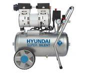 Hyundai 55752 - Compresseur silencieux sans huile - 8 bar - 24L
