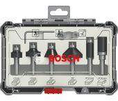 Bosch 2607017469 Kit de fraisage en 6 parties dans une cassette - Arrondi et profilage - 8mm