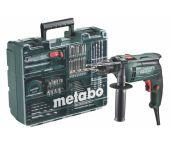 Metabo SBE 650 SET - Set perceuse à percussion avec accessoires dans coffret - 650W - 600671870